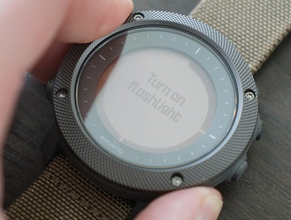 Suunto Traverse Alpha Watch Turn On Flashlight Button