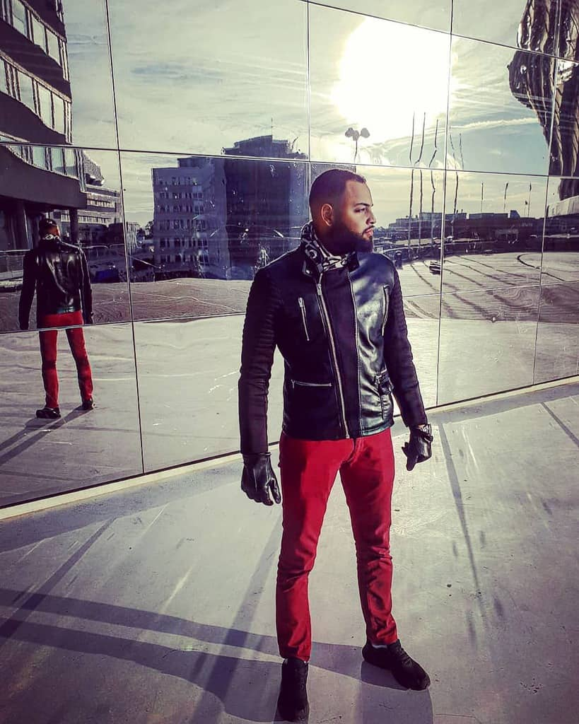 Sweden Street Red Pants Fashion