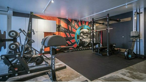 Top 75 best garage gym ideas home fitness center designs