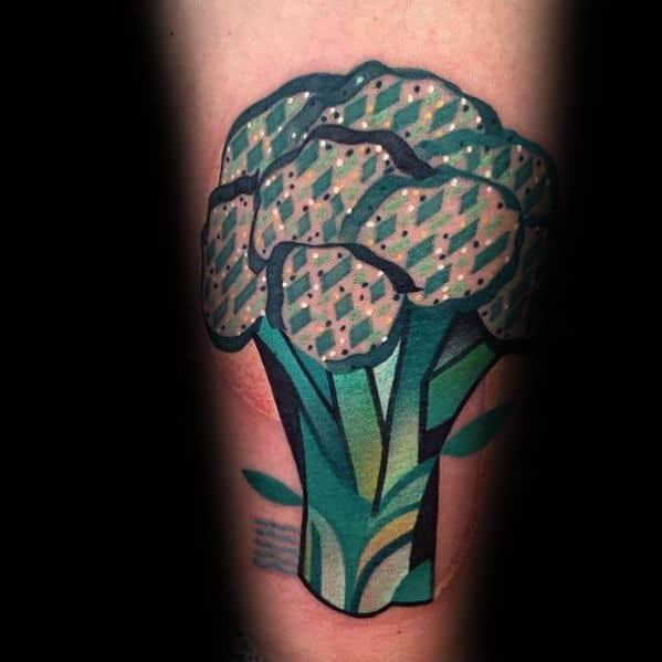 Sweet Mens Broccoli Tattoo Ideas