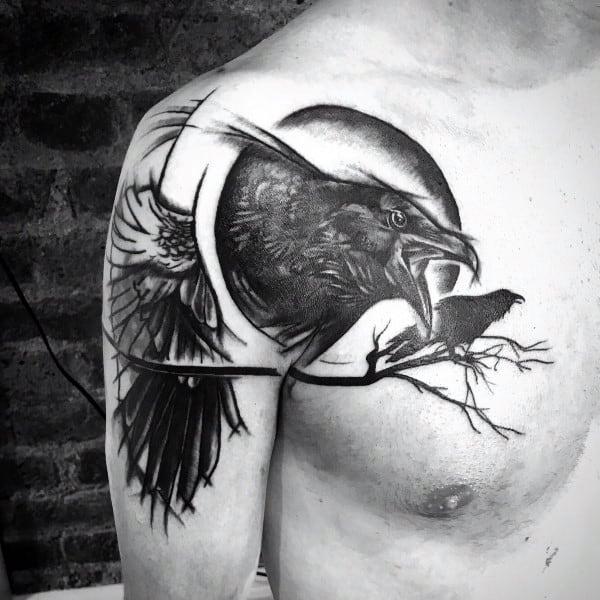 Sweet Mens Edgar Allan Poe Tattoo Ideas