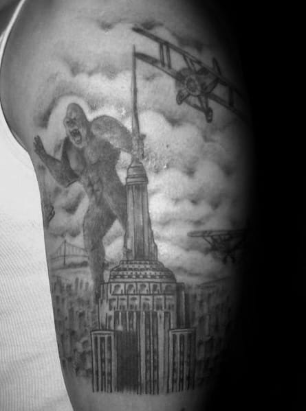 Sweet Mens Empire State Building Tattoo Ideas
