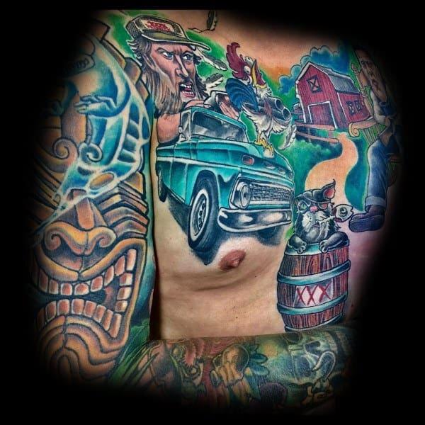 Sweet Mens Farming Tattoo Ideas