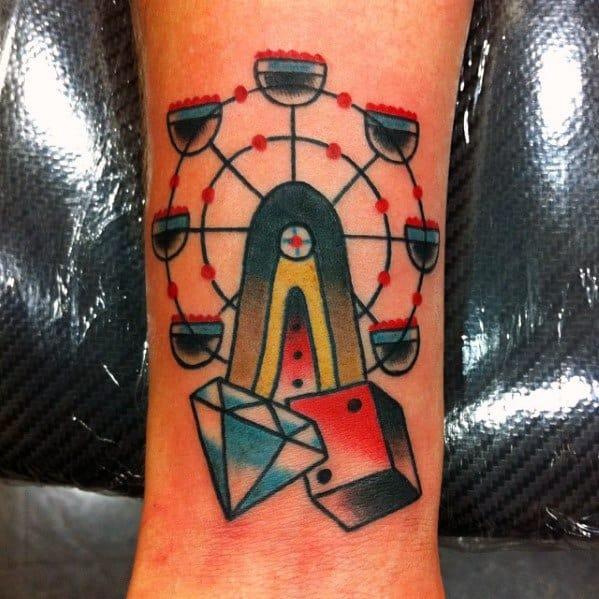 Sweet Mens Ferris Wheel Tattoo Ideas