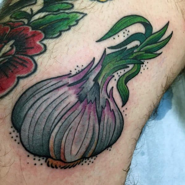 Sweet Mens Garlic Tattoo Ideas