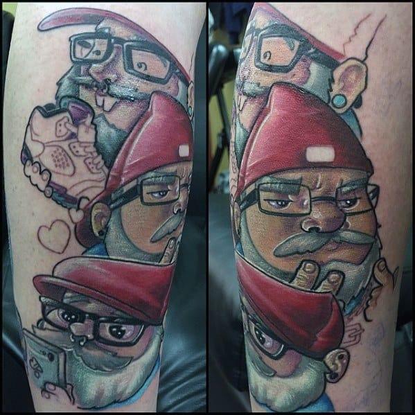 Sweet Mens Gnome Tattoo Ideas