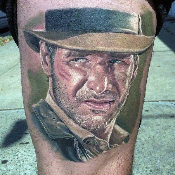 Sweet Mens Indiana Jones Tattoo Ideas