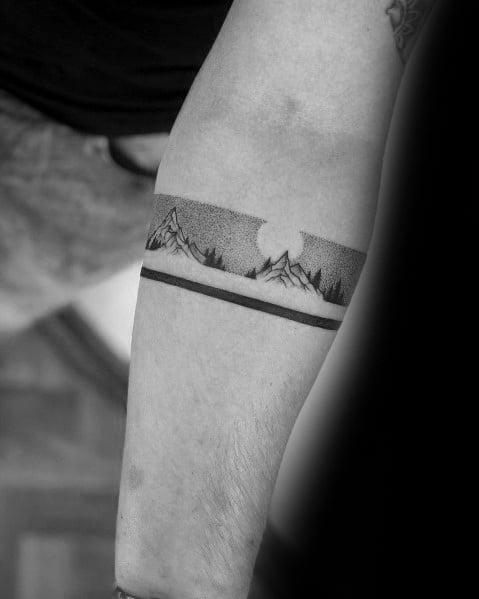 Sweet Mens Minimalist Mountain Tattoo Ideas