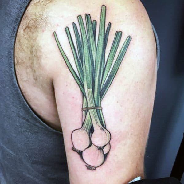 Sweet Mens Onion Tattoo Ideas
