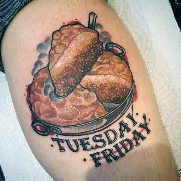 Sweet Mens Pie Tattoo Ideas