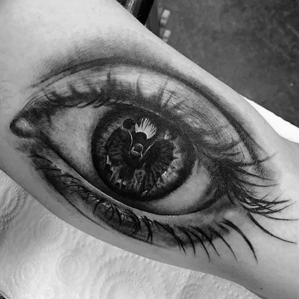 Sweet Mens Reflection Tattoo Ideas