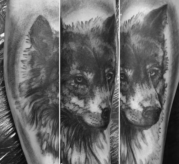 Sweet Mens Siberian Husky Tattoo Ideas