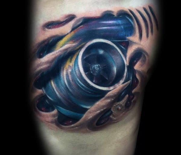 Sweet Mens Turbocharger Tattoo Ideas