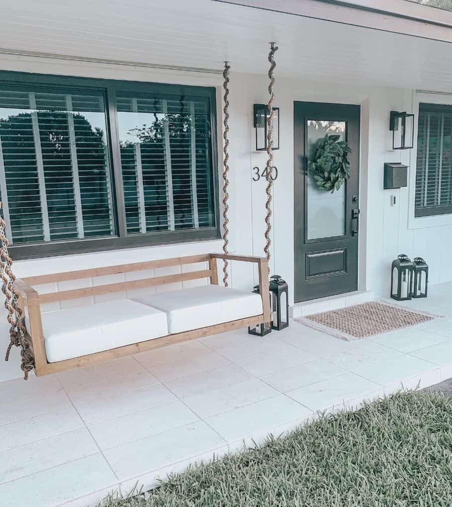 Swing Bench Porch Ideas Jensgatheringnest