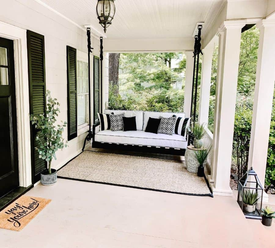 Swing Bench Porch Ideas Johnston.escapes