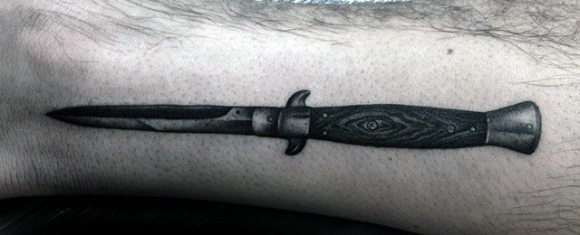 Switchblade Tattoo Designs For Men