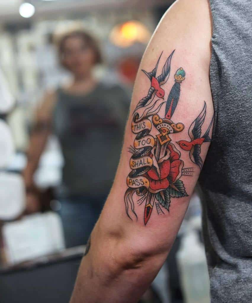 Sword Bird Traditional Tattoo