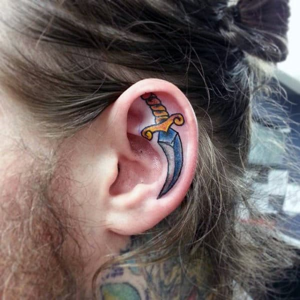 ce829bd2e 100 Ear Tattoos For Men - Inner And Outer Design Ideas