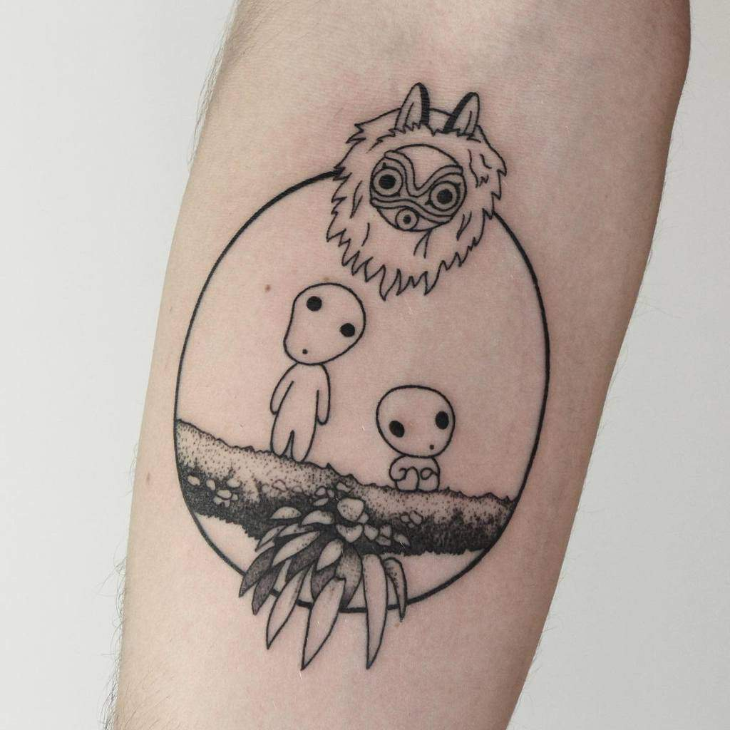 sydney-princess-mononoke-tattoo-fernandohidekitattoo