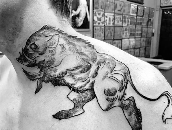 Symbolic Animal Tattoos For Men Boar Meaning