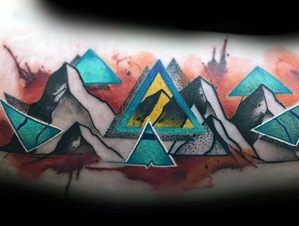 Symbolic Tattoos For Men Triangle Meaning