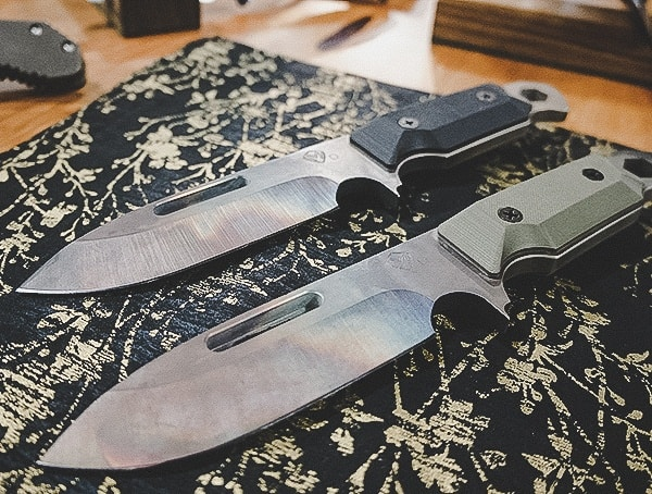 Tactical Fixed Blade Knives With Unique Blade Finish