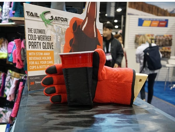 Tail Gator Glove With Integrated Cup Holder