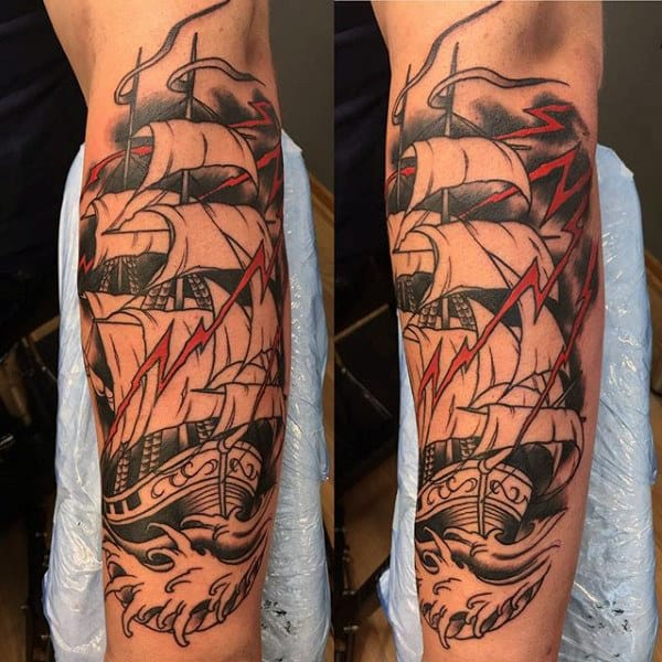 Tall Ship Tattoo For Men