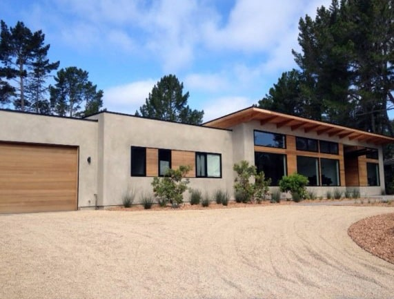 Tan Gravel Driveway Ideas Modern Home