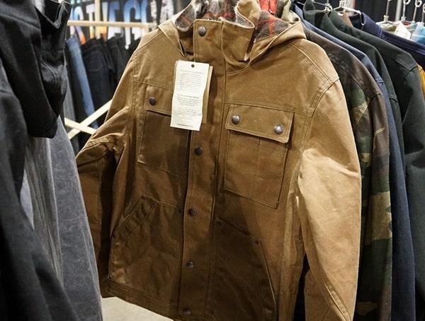 Tan Jacket With Flannel Interior Wild Outdoor Apparel
