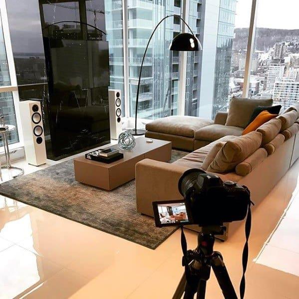 Tan Sectional Sofa Bachelor Pad Furniture Ideas For Men
