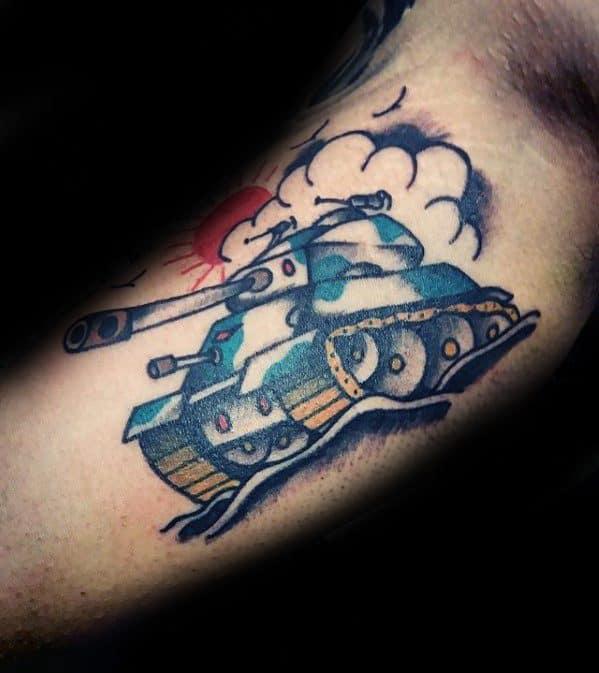 Tank Male Tattoo Designs