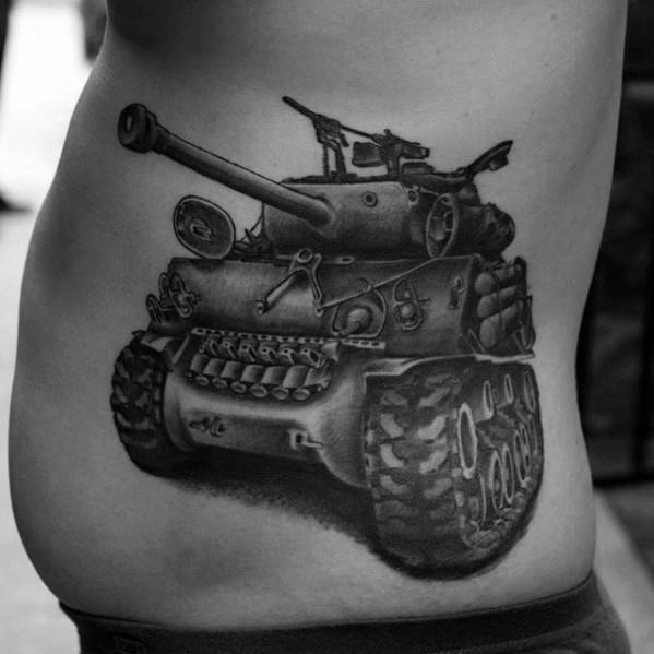 Tank Mens Tattoo Designs