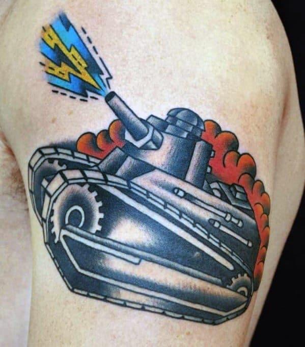 Tank Tattoo Design Ideas For Males