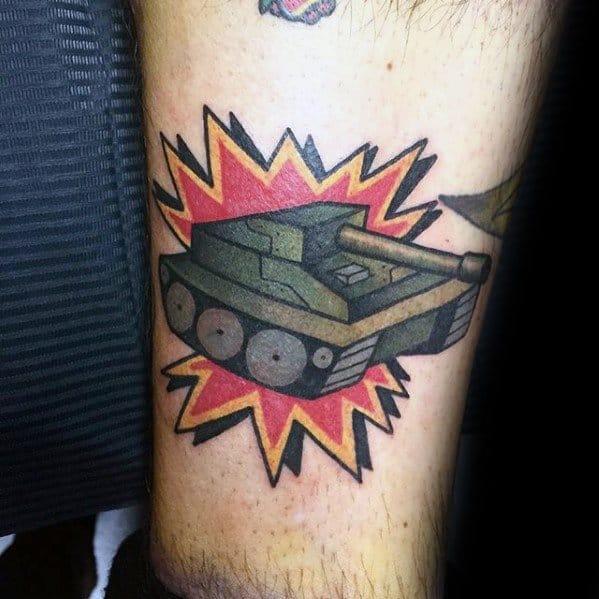 Tank Tattoo Designs For Men
