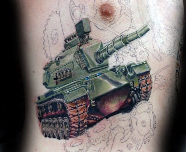 Tank Tattoo Ideas For Gentlemen