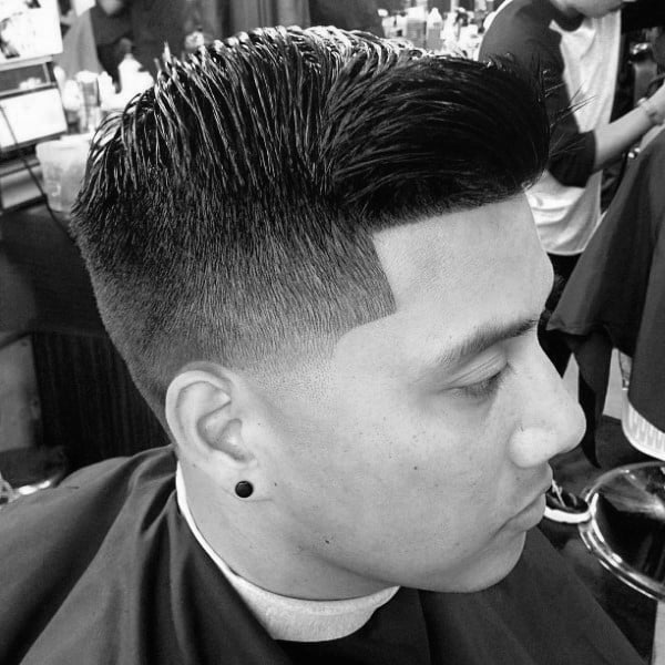 Taper Fade Comb Over Hair For Men