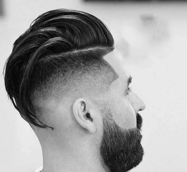 Taper Fade Undercut With Long Hair For Men