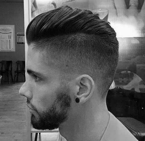 Taper Side Mens Short Length Hairstyle