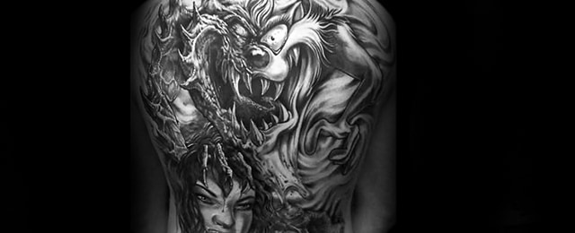 40 Tasmanian Devil Tattoo Designs For Men – Cartoon Character Ink Ideas