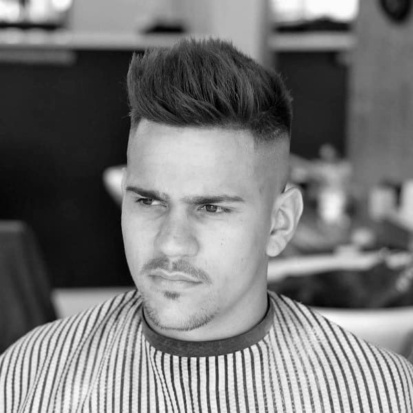 Tasteful Mens Short Haircuts For Thin Hair High Fade Sides