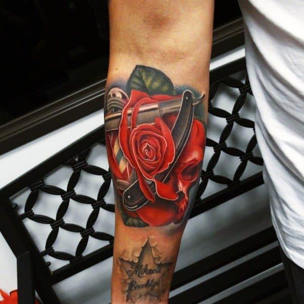 Tattoo Badass Rose Ideas For Guys