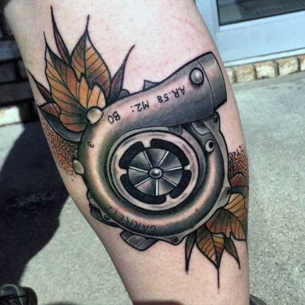 Tattoo Car Turbocharger Ideas For Guys