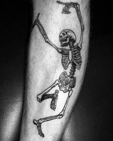 Tattoo Dancing Skeleton Designs For Men