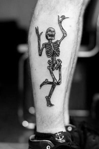 Tattoo Dancing Skeleton Ideas For Guys