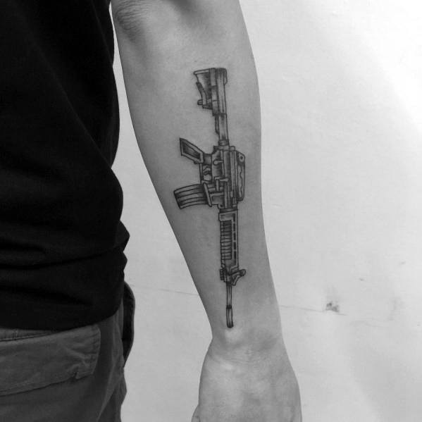 Tattoo Designs Ar 15 Outer Forearm