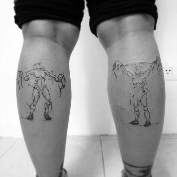 Tattoo Designs Crossfit On Leg Calves