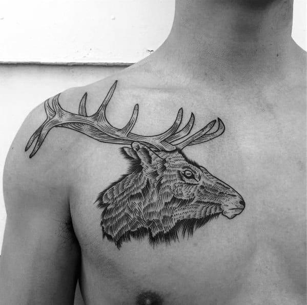 Tattoo Designs Elk Ideas For Men