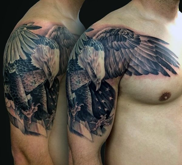 Gaurdian Tattoo Designs For Men Half Sleeve