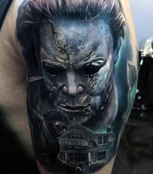 Horror Movie Tattoos Tattoos: 80 Horror Movie Tattoos For Men